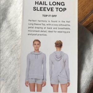 ALO YOGA Hail Long Sleeve Hoodie in LG